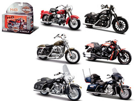 Harley Davidson Motorcycle 6pc Set Series 33 1/18 Diecast Model Maisto 31360-33