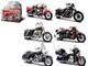 Harley Davidson Motorcycle 6pc Set Series 33 1/18 Diecast Model Maisto 31360-33