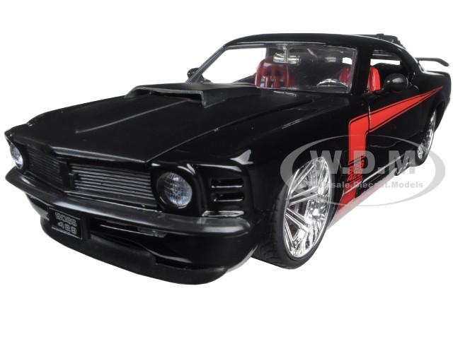 1970 Ford Mustang Boss 429 Black 1/24 Diecast Model Car Jada 90348