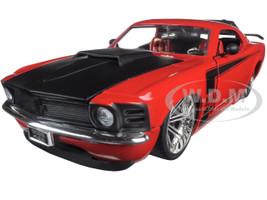 1970 Ford Mustang Boss 429 Red 1/24 Diecast Model Car Jada 90348