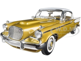 1958 Studebaker Golden Hawk Gold 1/18 Diecast Model Car Road Signature 20018