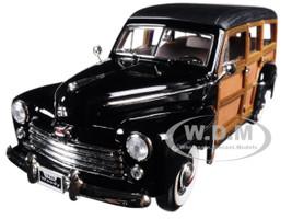 1948 Ford Woody Black 1/18 Diecast Model Car Road Signature 20028
