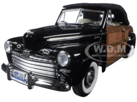 1946 Ford Sportsman Woody Black 1/18 Diecast Model Car Road Signature 20048