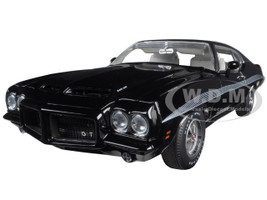 1972 Pontiac GTO LeMans Starlight Black with Vinyl Top Dealer Exclusive Limited Edition to 252pcs 1/18 Diecast Model Car Acme A1801205 VT