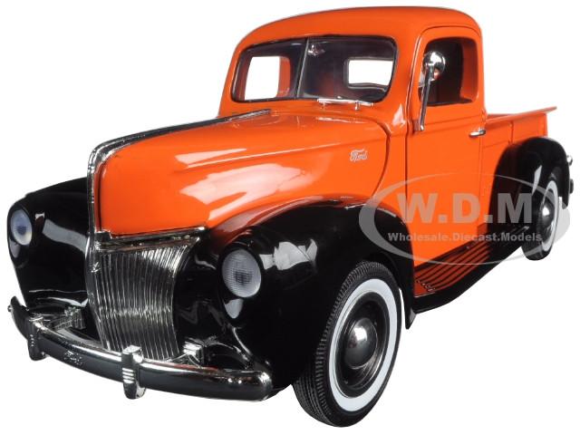 1940 Ford Pickup Truck Orange Timeless Classics 1/18 Diecast Model Car Motormax 73170