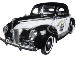"1940 Ford Coupe Deluxe California Highway Patrol CHP ""Timeless Classics"" 1/18 Diecast Model Car Motormax 73108 POL-TC"