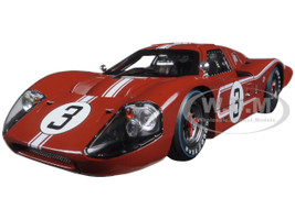 1967 Ford GT MK IV Red #3 M Andretti LBianchi Le Mans 24 Hours 1/18 Diecast Model Car Shelby Collectibles SC425
