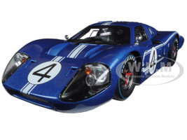 1967 Ford GT MK IV #4 Blue LeMans 24 Hours L.Ruby / D.Hulme  1/18 Diecast Model Car Shelby Collectibles SC426