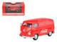 1962 Volkswagen Coca Cola Cargo Van Red 1/43 Diecast Model Motorcity Classics 430004