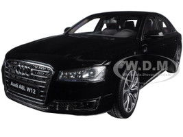 2014 Audi A8 L W12 Phantom Black 1/18 Diecast Model Car Kyosho 09232 BK