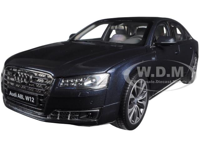 2014 Audi A8 L W12 Moon Shine Blue 1/18 Diecast Model Car Kyosho 09232 MSB