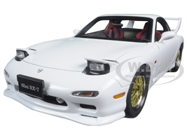 Mazda RX-7 (FD) Tuned Version Pure White 1/18 Diecast Model Car AutoArt 75967