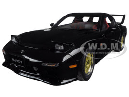 Mazda RX-7 (FD) Tuned Version Brilliant Black 1/18 Diecast Model Car AutoArt 75968
