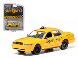 Ford Crown Victoria Yellow NYC Taxi New York City 1/64 Diecast Model Car Greenlight 29773