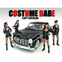 """Costume Babes"" 4 Piece Figure Set For 1:24 Scale Models American Diorama 23917-23918-23919-23920"