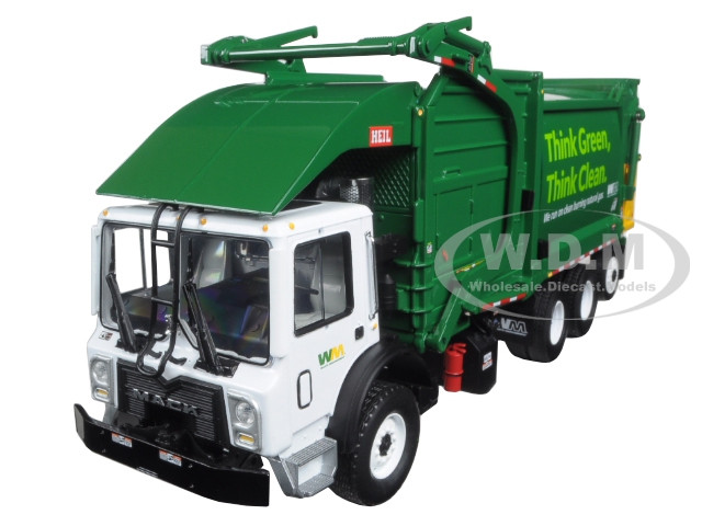 Mack TerraPro Waste Management Garbage Truck with Heil Half/Pack Freedom Front End Loader with CNG Tailgate including Bin 1/34 Diecast Model First Gear 10-4006