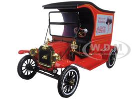 1917 Ford Model T Cargo Van Coca-Cola Red 1/18 Diecast Model Car Motorcity Classics 449804