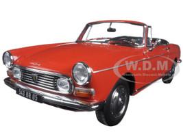 1967 Peugeot 404 Cabriolet Capanelle Red 1/18 Diecast Model Car Norev 184779