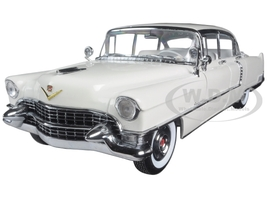 1955 Cadillac Fleetwood Series 60 White 1/18 Diecast Model Car Greenlight 12936
