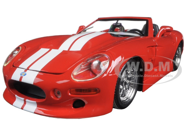 Shelby Series 1 Red with White Stripes 1/18 Diecast Model Car Maisto 31142 r