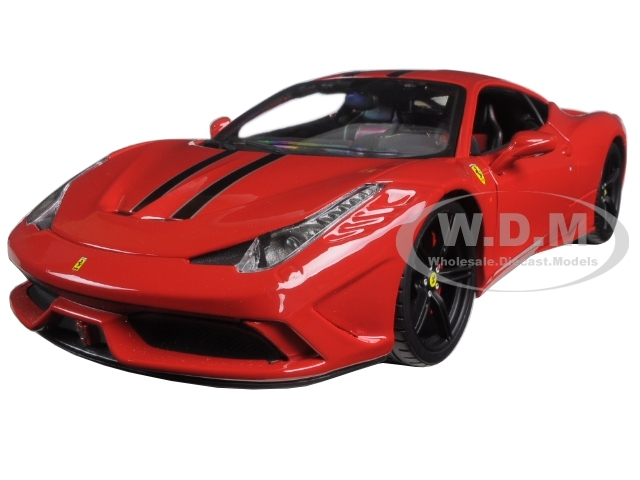 Ferrari 458 Red Speciale Signature Series 1/18 Diecast Model Car Bburago 16903