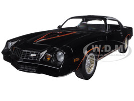 1978 Chevrolet Camaro Z/28 Black with Orange Stripes & Black Interior 1/18 Diecast Model Car Greenlight 12902