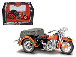 1947 Harley Davidson Servi-Car Black with Orange HD Custom Motorcycle Model 1/18 Diecast Model Maisto 03179