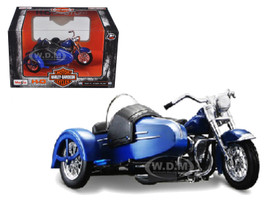 1952 Harley Davidson FL Hydra Glide with Side Car Blue with Black Motorcycle Model 1/18 Diecast Model Maisto 03175