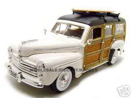 1948 Ford Woody Surfboard Cream 1/18 Diecast Model Car Road Signature 20028