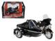 1998 Harley Davidson FLHT Electra Glide Standard with Side Car Black Motorcycle Model 1/18 Diecast Model Maisto 32420E 76400