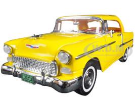 "1955 Chevrolet Bel Air Convertible Soft Top Yellow ""Timeless Classics"" 1/18 Diecast Model Car Motormax 73184TC Y"