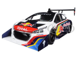 2013 Peugeot 208 T16 Pikes Peak Race Car Red Bull 1/18 Model Car Autoart 81354