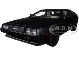 DeLorean DMC 12 Matt Black 1/18 Diecast Model Car Autoart 79912