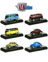 Auto Thentics Volkswagen 6 Cars Set Release 3 IN DISPLAY CASES 1/64 Diecast Model Cars M2 Machines 32500-VW03