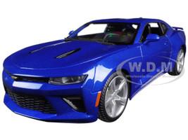 2016 Chevrolet Camaro SS Blue 1/18 Diecast Model Car Maisto 31689