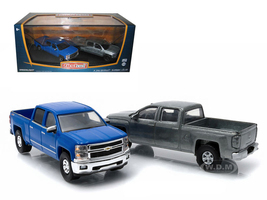 First Cut 2014 Chevrolet Silverado Pickup Trucks Hobby Only Exclusive 2 Cars Set 1/64 Diecast Models Greenlight 29827