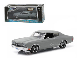 """Dom's 1970 Chevrolet Chevelle SS """"Fast and Furious"""" Movie (2009) 1/43 Diecast Model Car Greenlight 86227"""