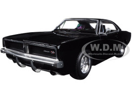 1969 Dodge Charger R/T Black 1/25 Diecast Model Car New Ray 71893 B