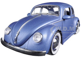 1959 Volkswagen Beetle Matt Blue 1/24 Diecast Model Car Jada 97420
