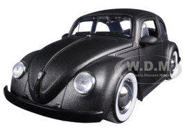 1959 Volkswagen Beetle Satin Metallic Matt Gray with Baby Moon Wheels 1/24 Diecast Model Car Jada  97421