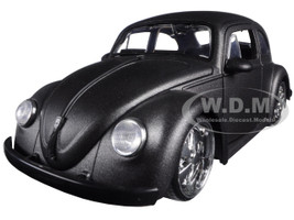 1959 Volkswagen Beetle Satin Metallic Gray with 5 Spoke Wheels 1/24 Diecast Model Car Jada 97490