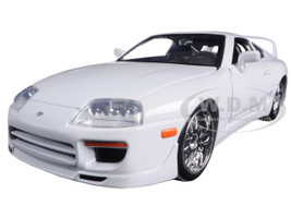 "Brian's Toyota Supra White ""Fast & Furious"" Movie 1/24 Diecast Car Model Jada 97375"