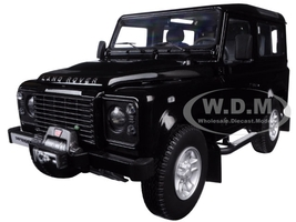 1984 Land Rover Defender 90 Black 1/18 Diecast Car Model Kyosho 08901