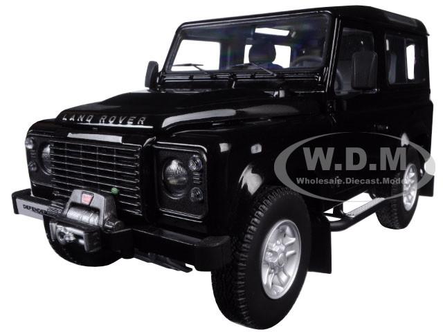 1984 Land Rover Defender 90 Black 1/18 Diecast Car Model Kyosho 08901