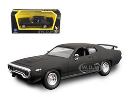 1971 Plymouth GTX Matt Black 1/43 Diecast Model Car Road Signature 94218