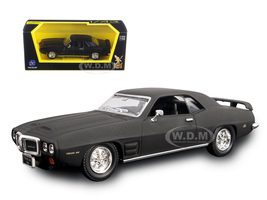 1969 Pontiac Firebird Trans Am Matt Black 1/43 Diecast Model Car Road Signature 94238