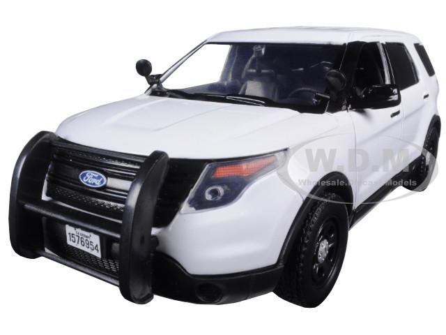 MOTOR MAX 1:24 2015 FORD POLICE INTERCEPTOR UTILITY DIE-CAST WHITE 76960