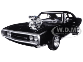 "1970 Dodge Charger Black ""The Fast & Furious"" Movie (2001) 1/18 Diecast Model Car Hotwheels CMC97"