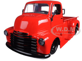 1952 Chevrolet COE Pickup Truck Red with Black Wheels 1/24 Diecast Model by Jada 97046