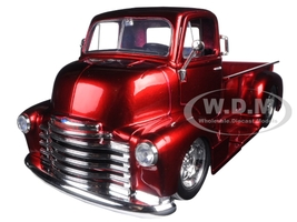 1952 Chevrolet COE Pickup Truck Red with Chrome Wheels 1/24 Diecast Model Jada 97460